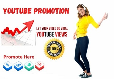 I will do viral YouTube promotion and YouTube Marketing
