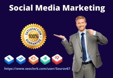 I will do best social media marketing