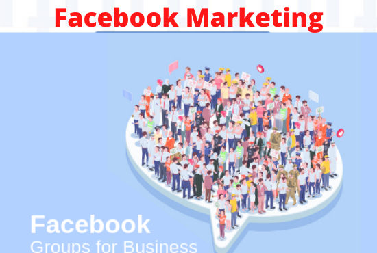 I will do facebook post in group promote your Business 2 million of peoples