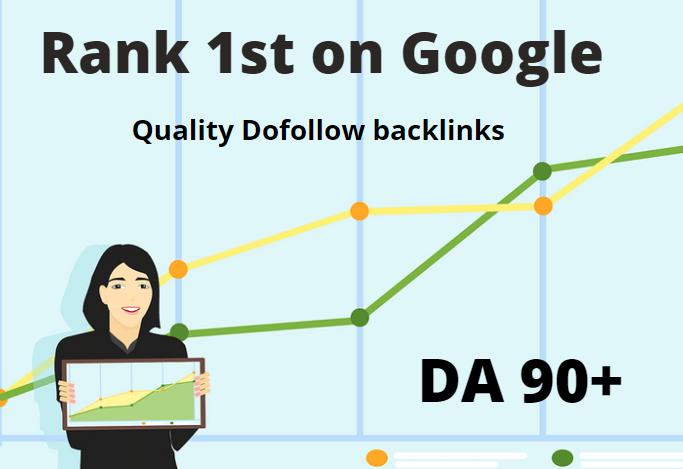 I will high authority 30 dofollow backlinks da 80 plus