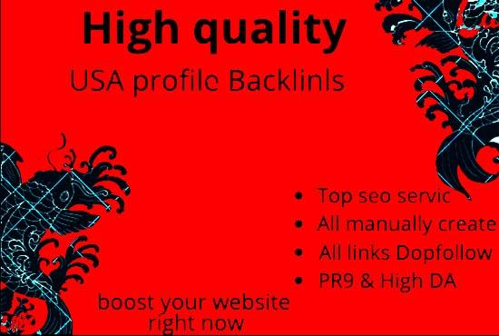 Create Manually 100+ pr9 da 90 Dofollow Profile Backlinks
