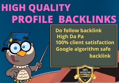 I will create Best qualities 50 profile creation backlink
