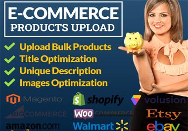 Upload eCommerce 100 products listing with SEO Optimization