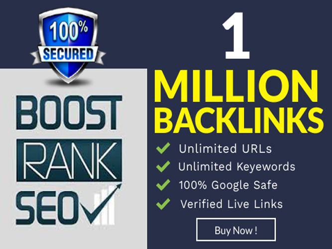 build 1 million backlinks for faster google indexing and ranking