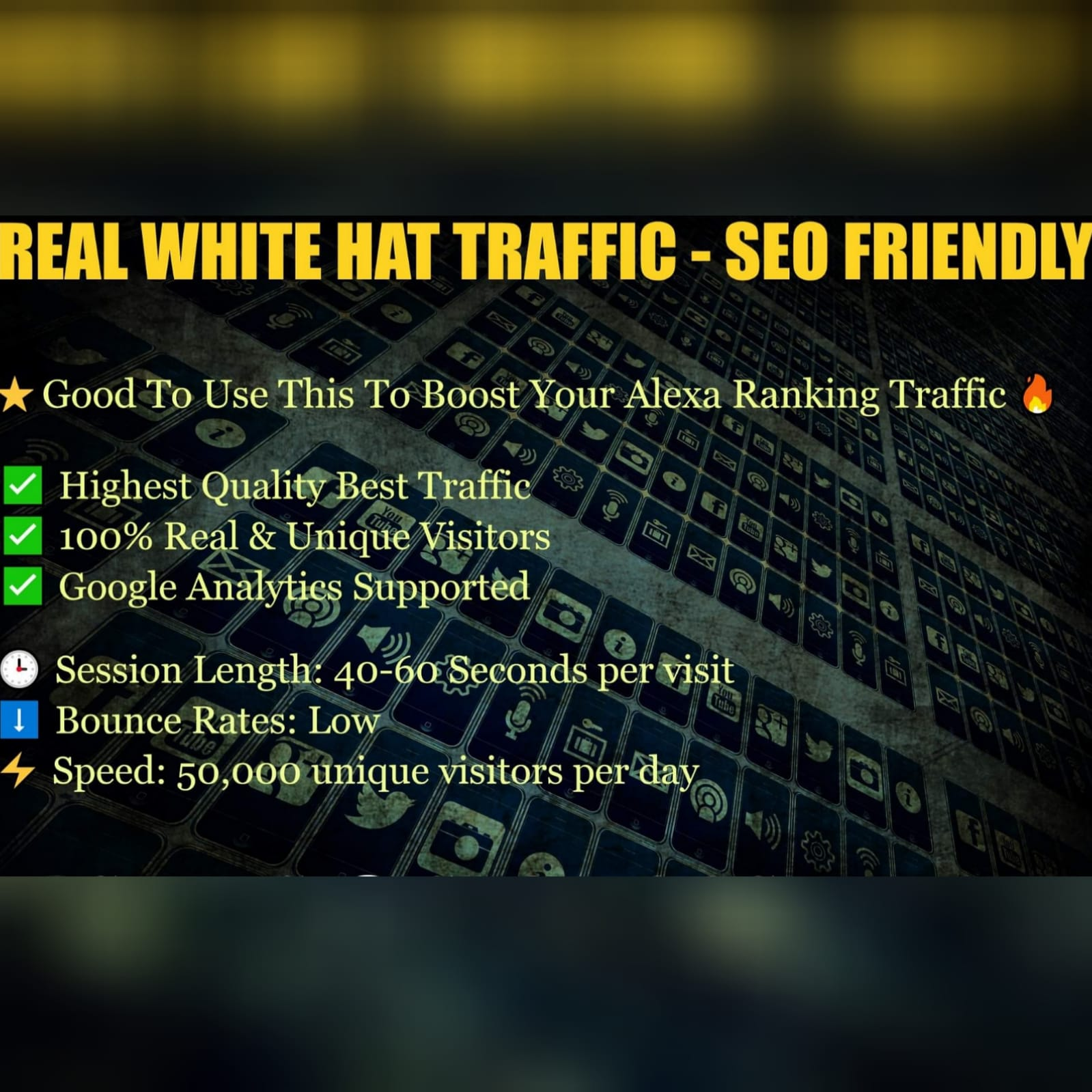 Real White Traffic - Google / Alexa / Platforms - SEO FRIENDLY 1k per order