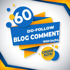 I will do 60 dofollow blog comment high da 20+ to 50+