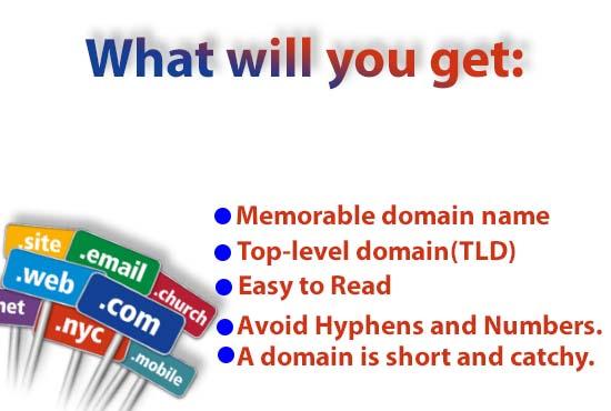 I will suggest best seo friendly domain nI will suggest best seo friendly domain naame with research