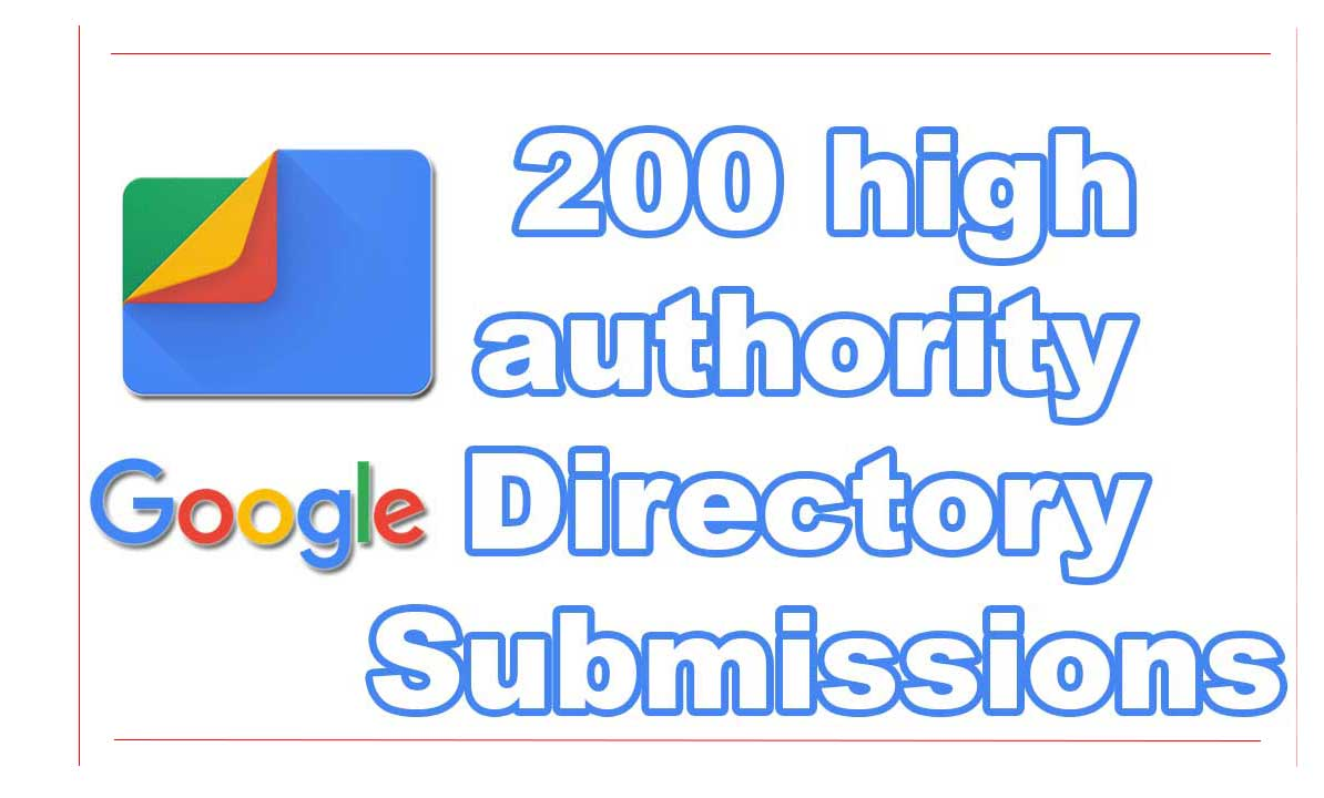 200 high authority Directory Submissions