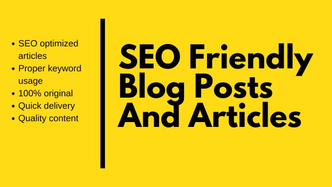 Write 1K word SEO optimized article or blog post