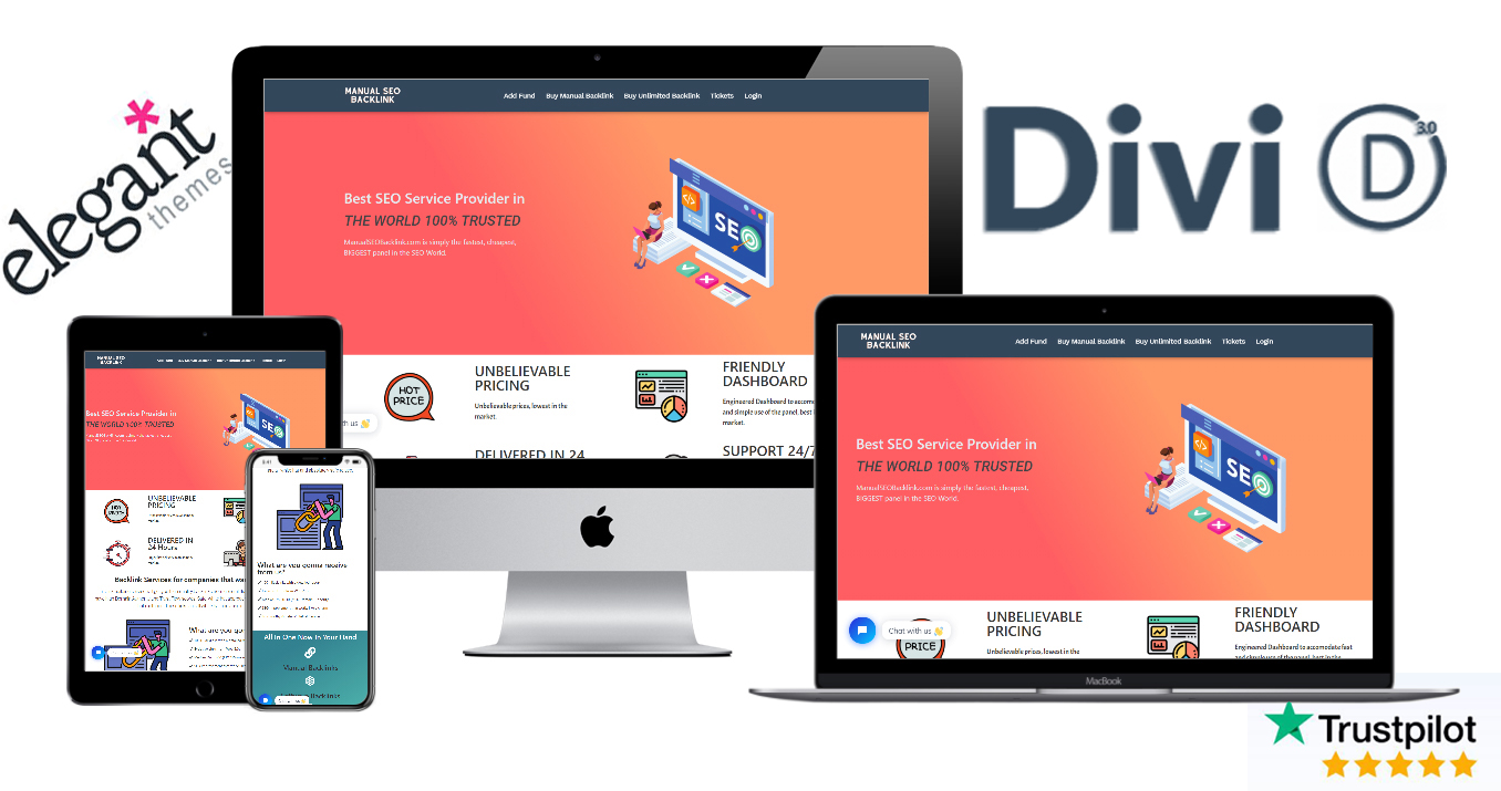 Create a DIVI WordPress website/landing page using divi