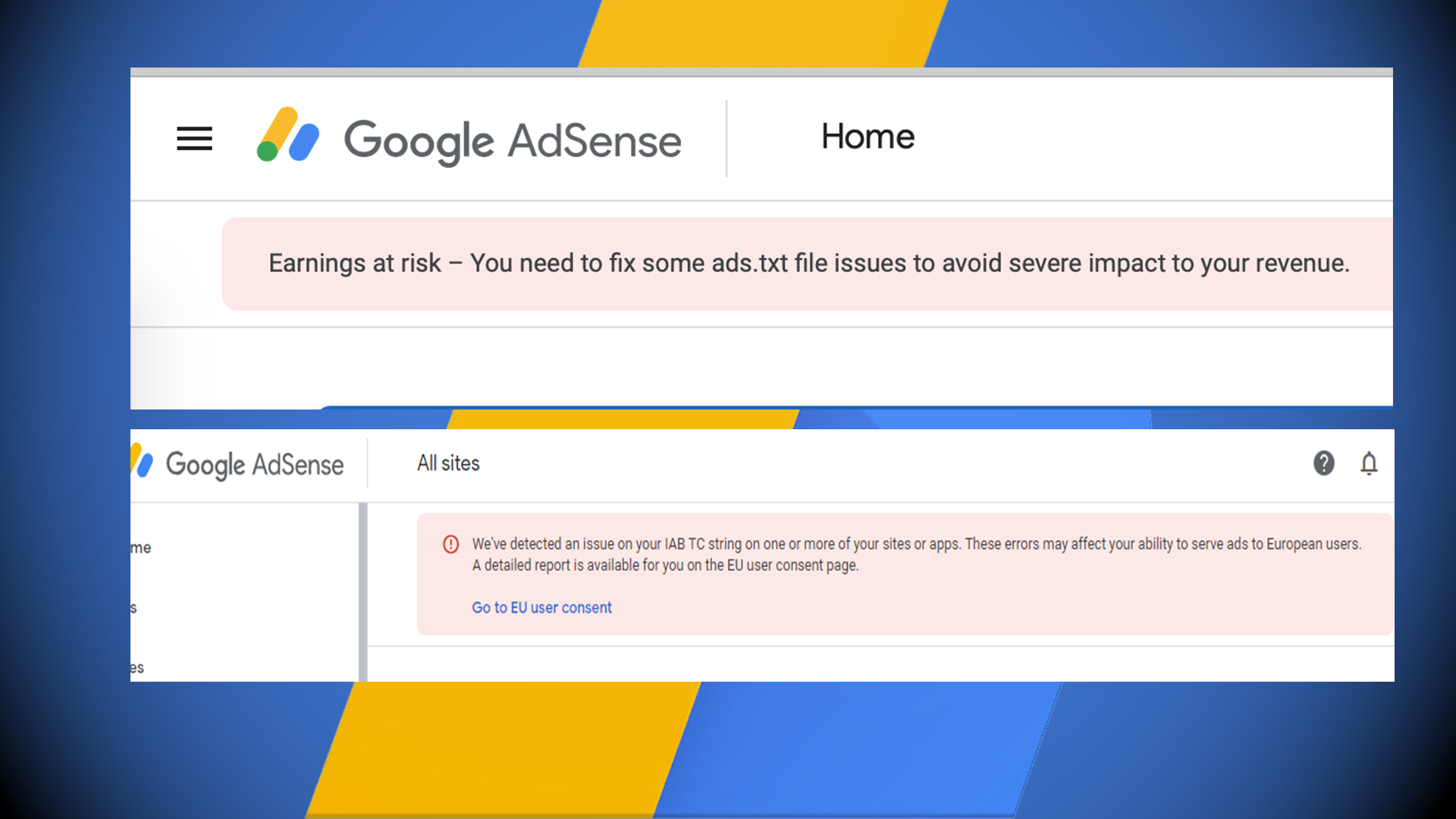 Fix google search console,adsense, analytics, sitemap XML
