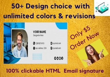 I Will Create Clickable Professional HTML Email Signature Within 1 Days