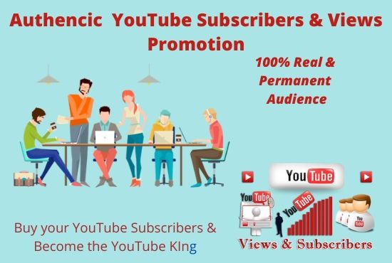 I will do Authentic YouTube promotion