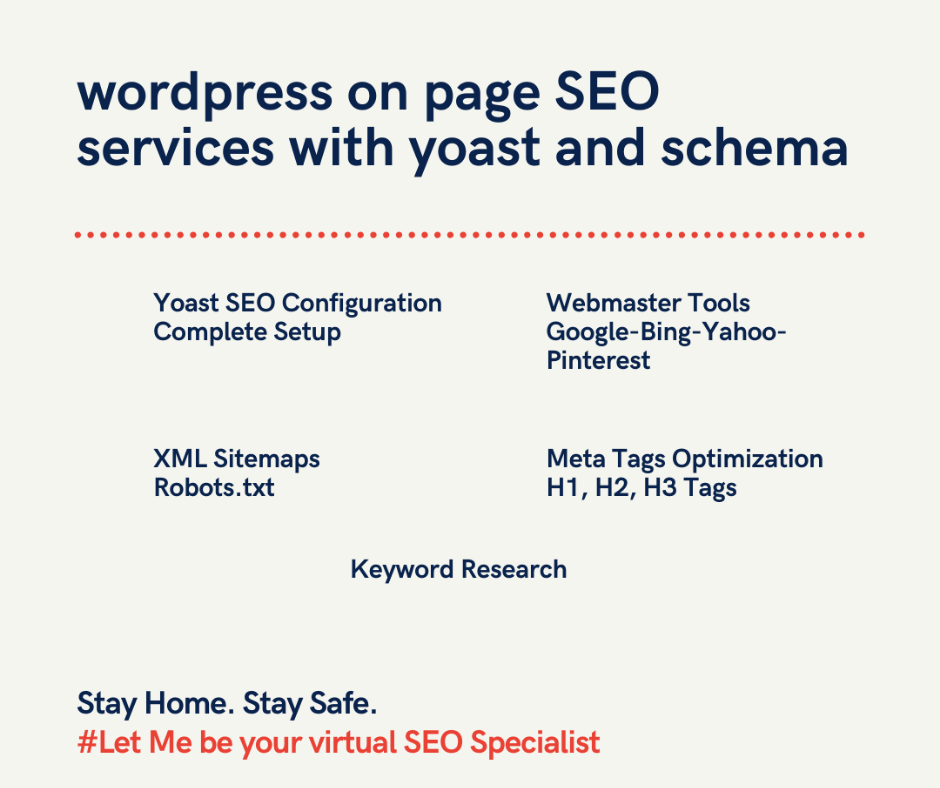 wordpress on page SEO services with yoast and schema markup