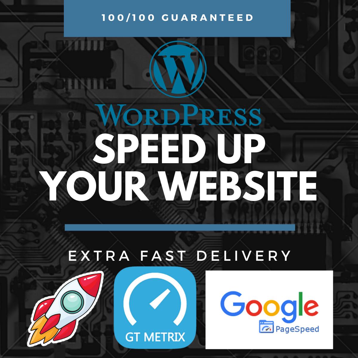 Wordpress speed optimization,  fix wordpress page speed