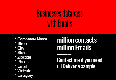 Any Country Businesses Database with Emails
