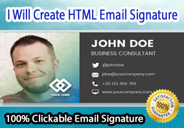 Create Clickable HTML Email Signature For You