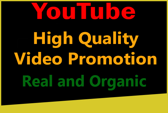 High Quality YouTube video promotion with Real and Organic Users (non drop)