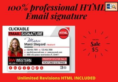 100 professional HTML Email Signature