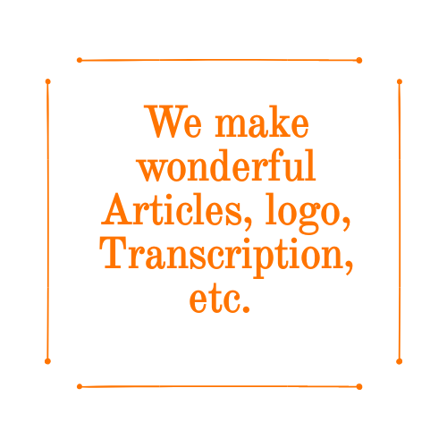 We provide all kinds of articles,  contents,  and also logos as per your demand.