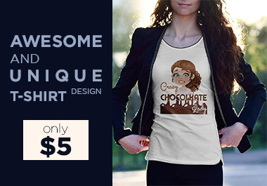 I will make awesome and unique t-shirt design
