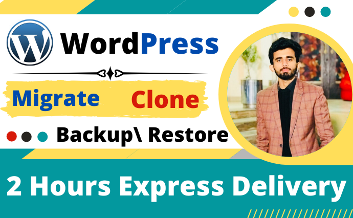 I will migrate Wordpress website,  clone Wordpress and change domain