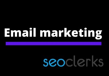I will send email blast for your business campaign