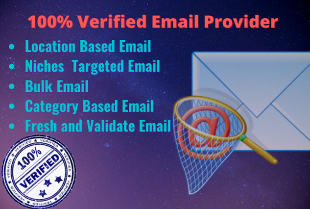 I will Provide Verified 5K Email List for Marketing