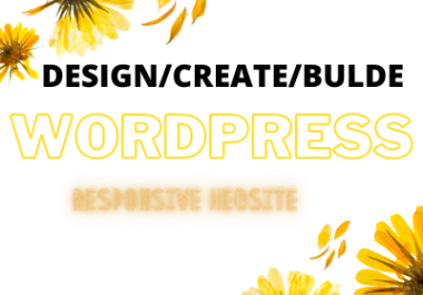 I will design or redesign frofessional wordpress website