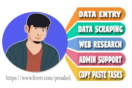 I will be your fastest virtual assistant for excel data entry, typing work