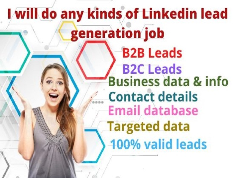 I will give 1000 valid emails b2b,  b2c,  real estate and online lead generation LinkedIn