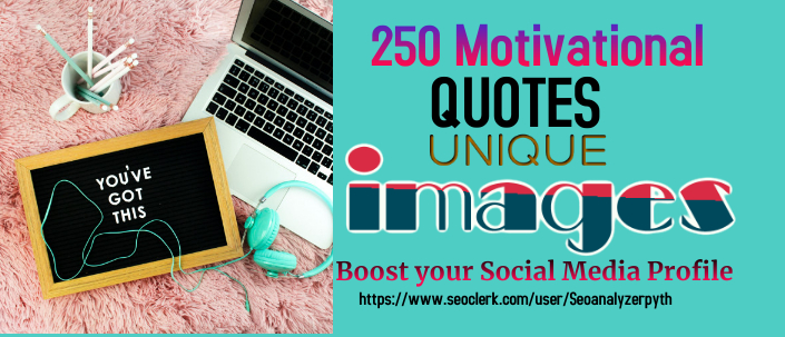 I will design 250 inspiring images with Username logo quote images.