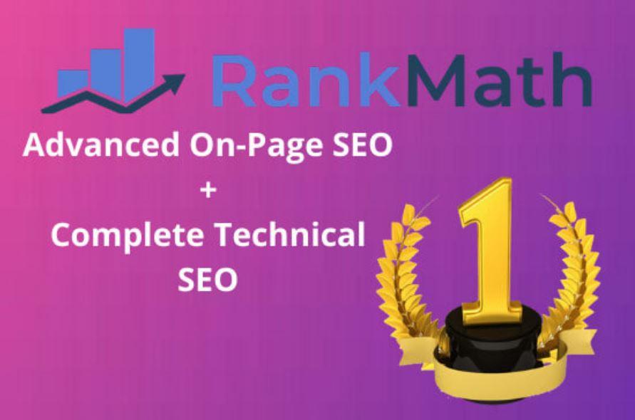 Rank Math advanced onpage SEO and complete technical SEO of wordpress website