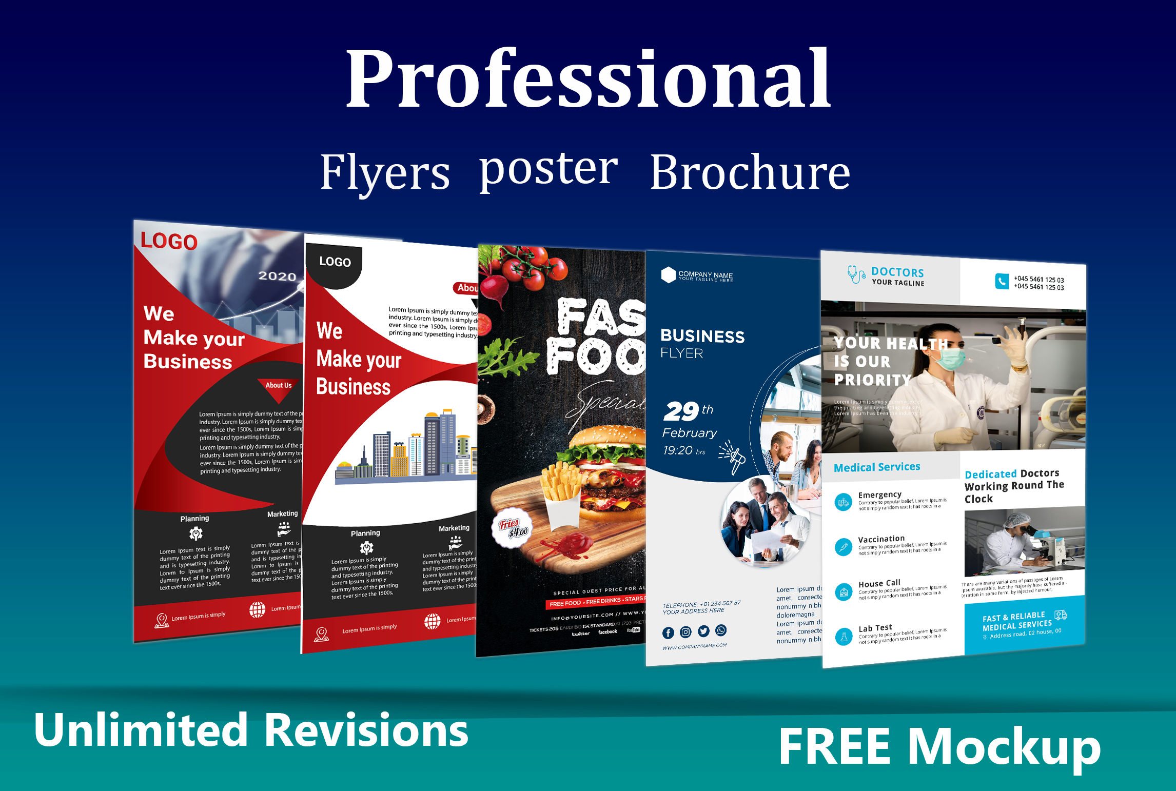 I will design professional real estate flyer,  brochure and banner