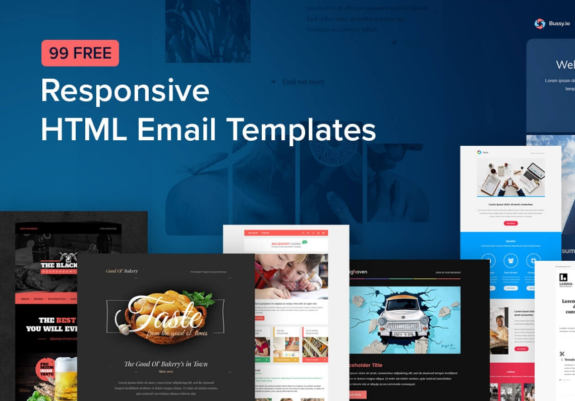 I will design editable HTML or mailchimp newsletter template