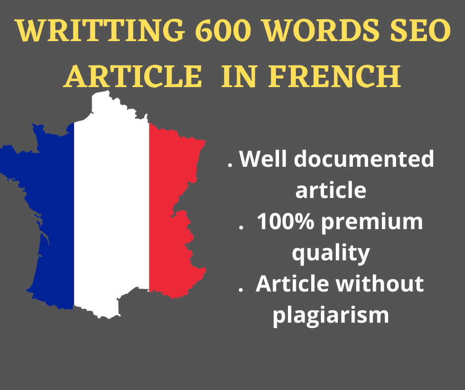 Writing a 600 words seo article in french