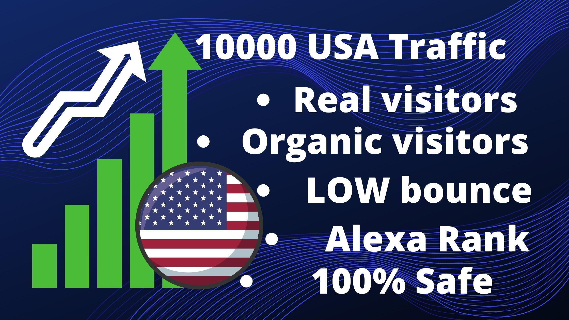 Drive Keyword target 10000 USA Organic visitors for your website/Blog