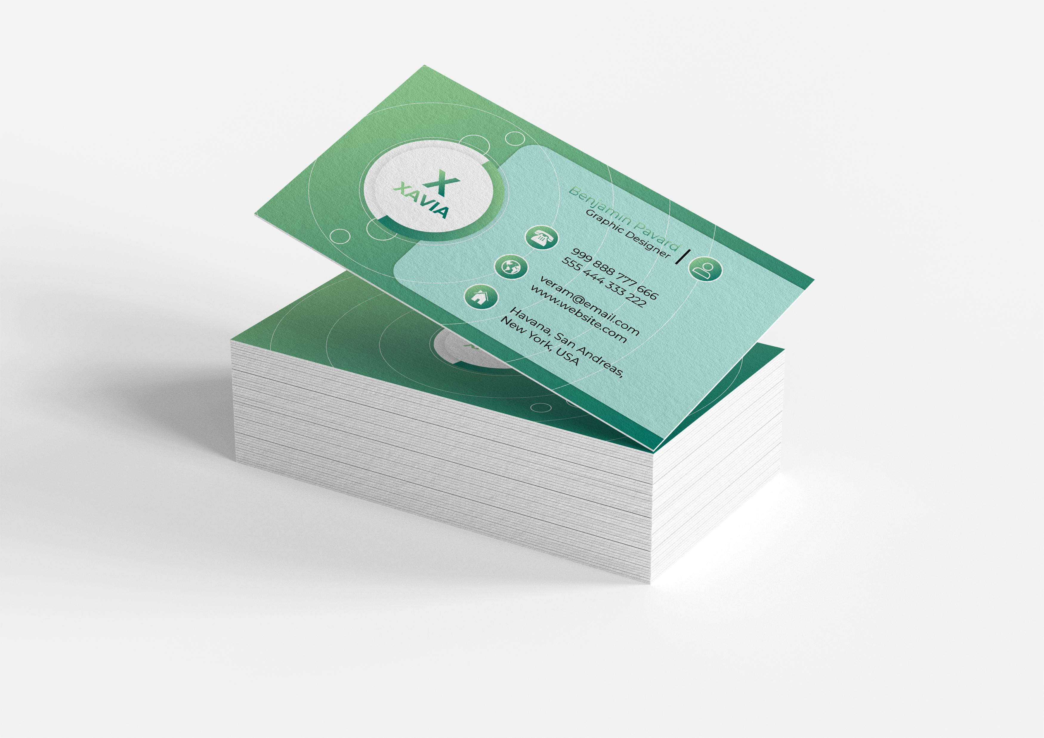 Unique professional business card design