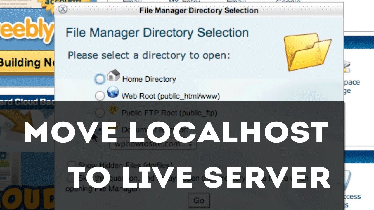 Upload Your website from local host server to your Live domain Server