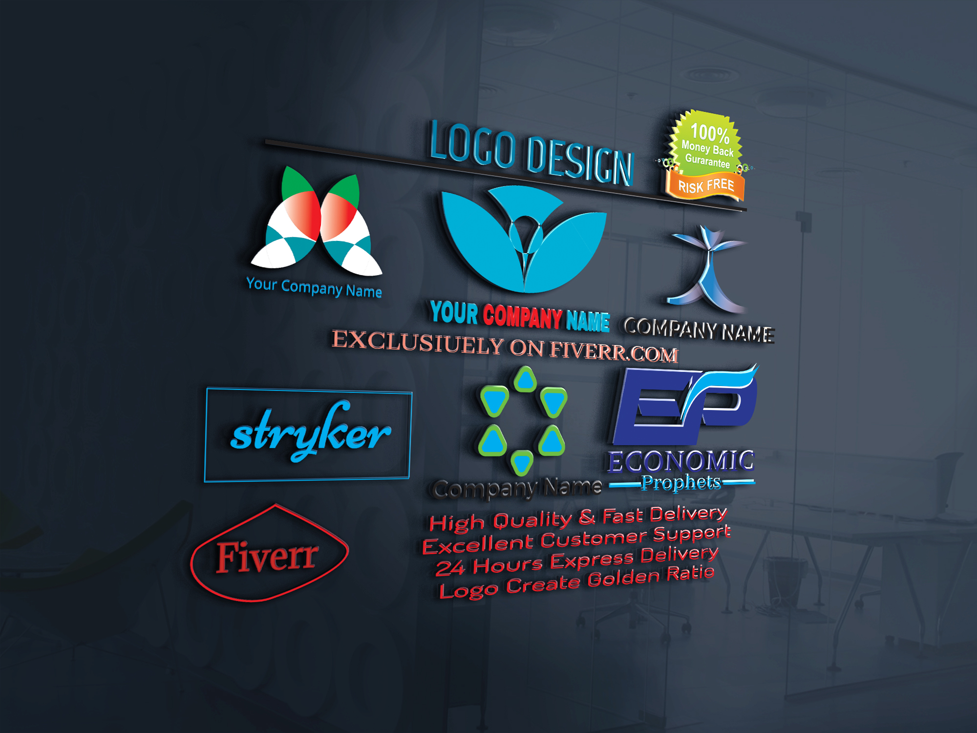 i will create a LOGO for you within 24 hours