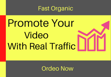 Promote your video with real traffic