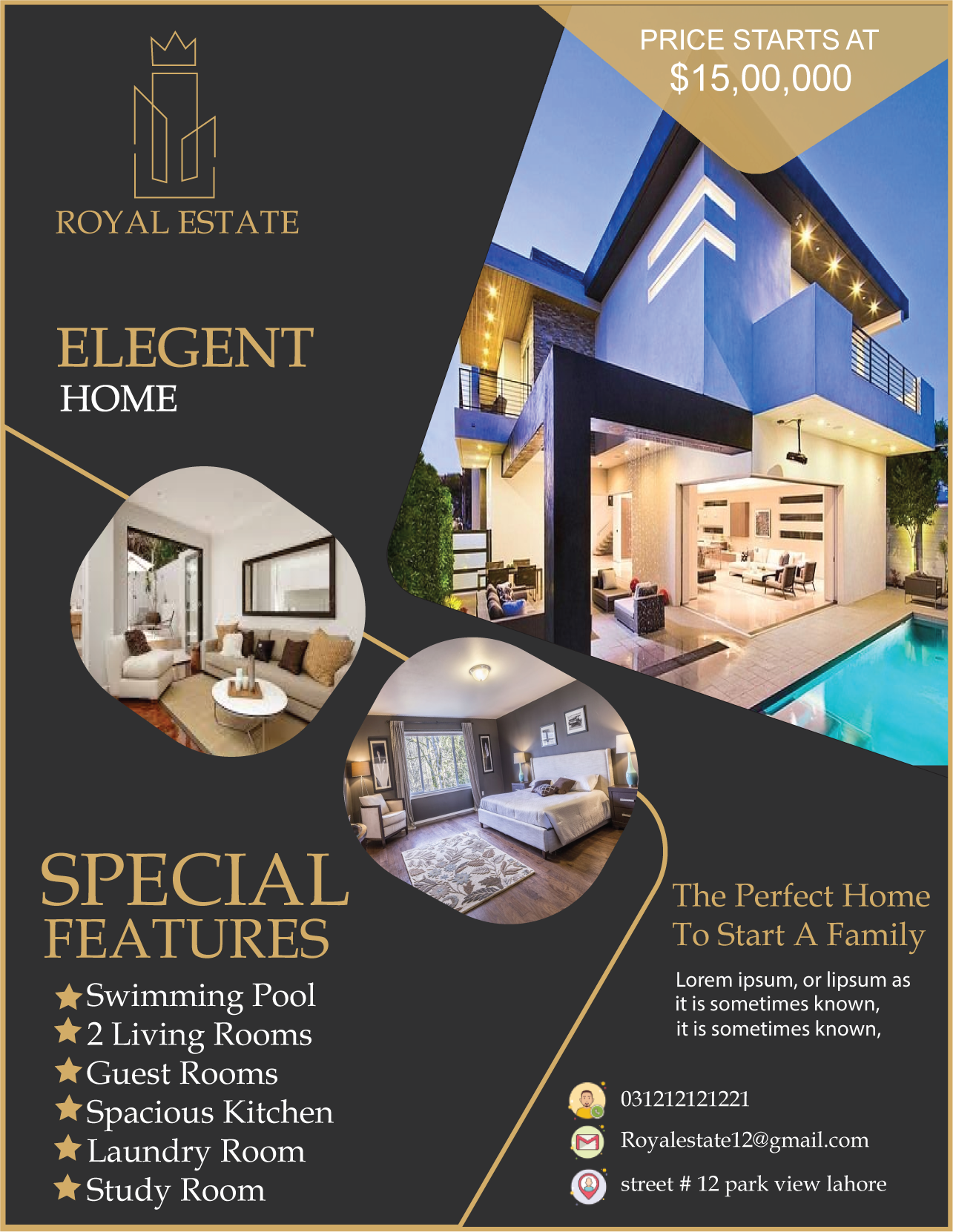 I Will Design Professional Real Estate Flyer Brochure And Web Banner For 5 Seoclerks