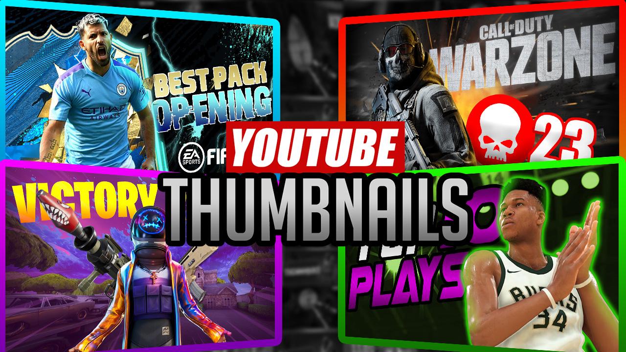 I will create a visually attractive youtube gaming thumbnail
