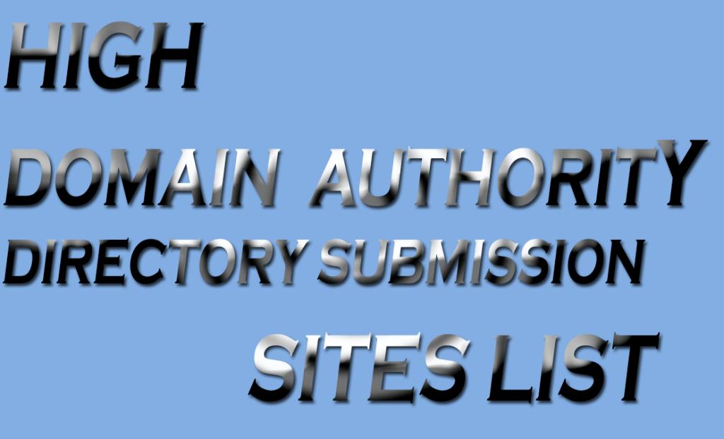 High Domain authority backlinks site list