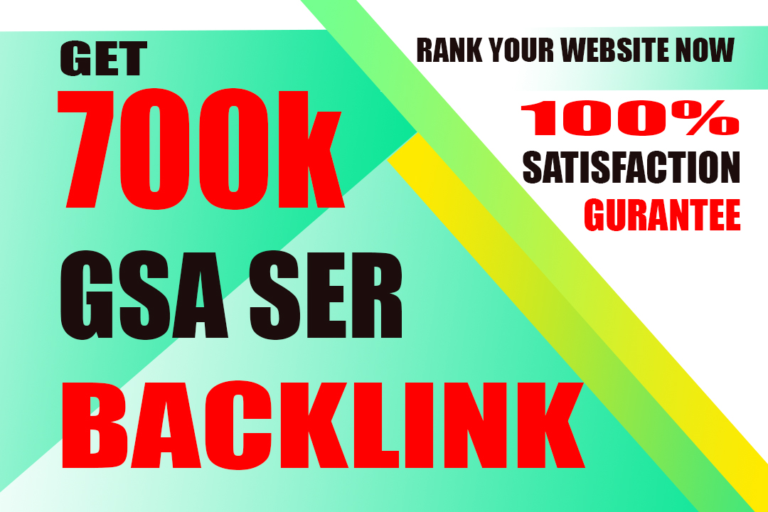 i will create 700k gsa backlink for your website