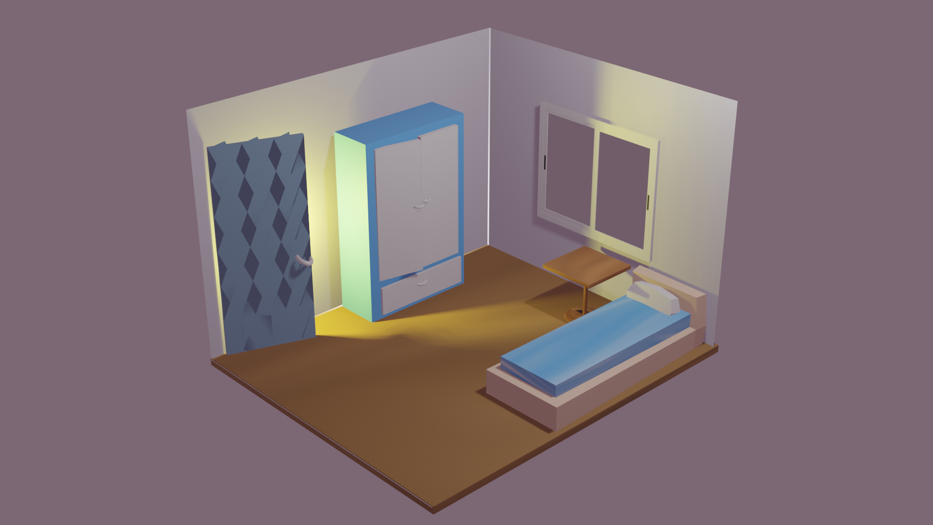 Custom 3D rooms - Any colours and various furniture to choose from