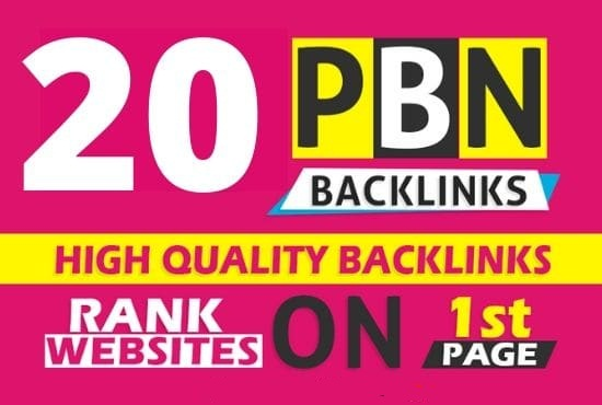 Build 20 PBN Back-link with high DA 40+ PA 30+,  DOFOLLOW with Unique website