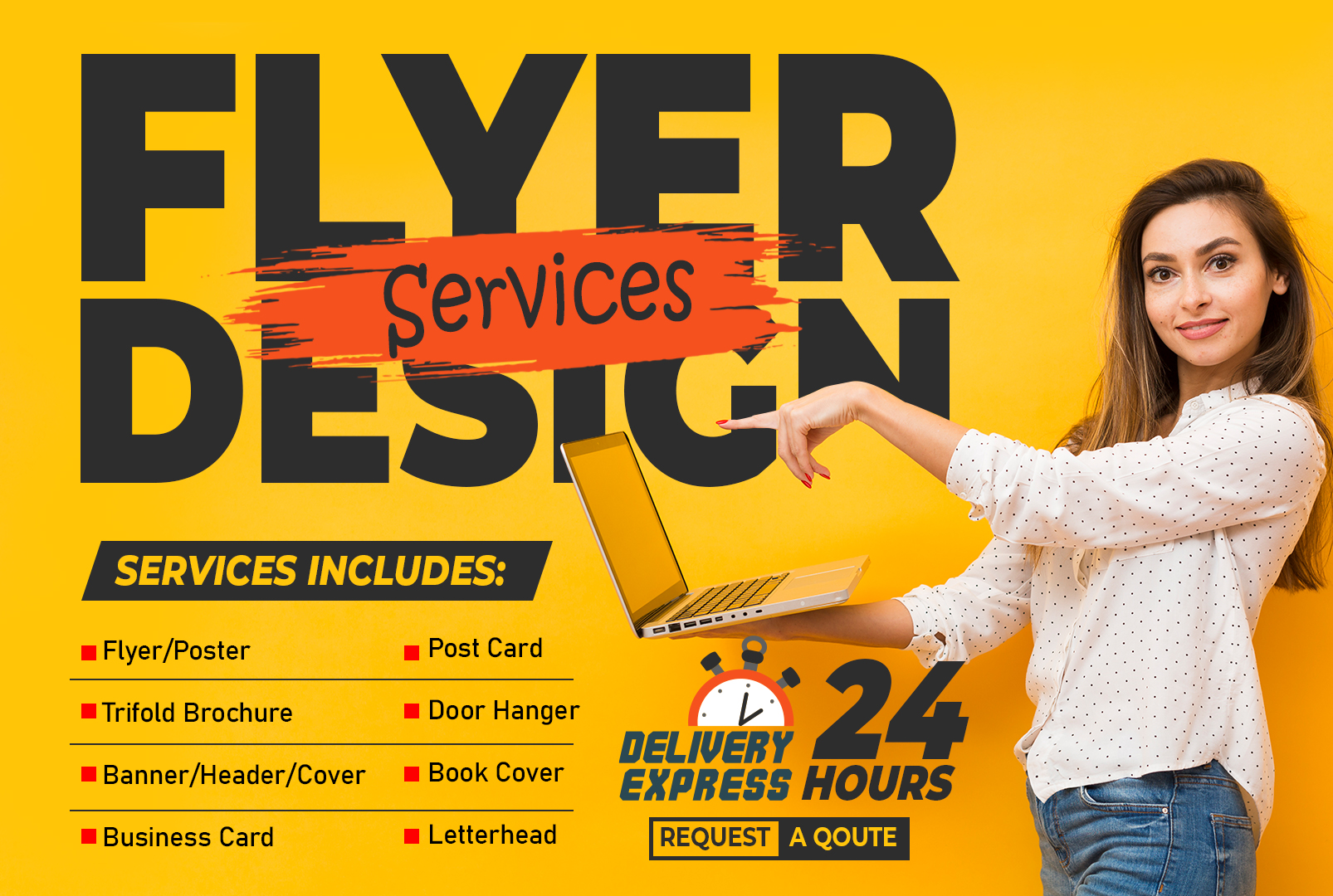 I will design you flyer/poster