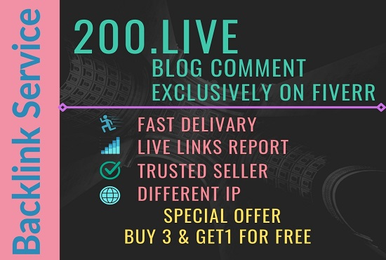 I will make 200 live blog comments H.Q for your website