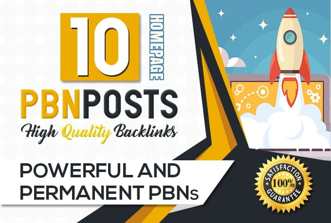 I will create 10 PBN power full backlinks on high DA 30+